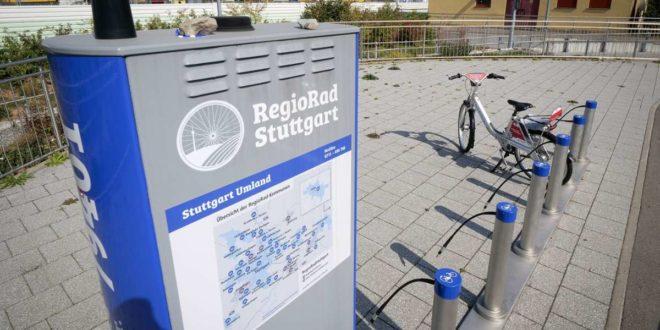 Das Verleihsystem Regiorad soll sich auch außerhalb Stuttgarts stärker etablieren – beispielsweise an dieser Station in Renningen. Foto: factum/Simon Granville