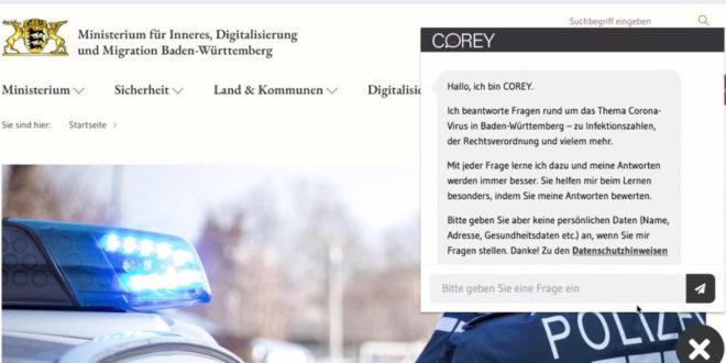 1,7 Millionen Fragen an Chatbot COREY