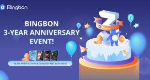 50.000 USDT zu gewinnen, während Bingbon sein 3-jähriges Bestehen feiert