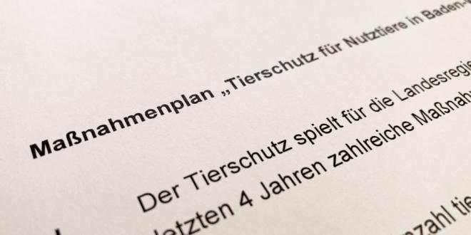 """Aktionsplan """"Tierschutz für Nutztiere in Baden-Württemberg"""""""