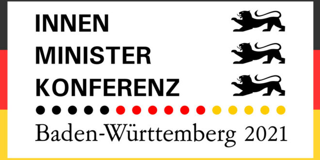 Logo der Innenministerkonferenz (IMK) 2021 mit Vorsitz von Baden-Württemberg.