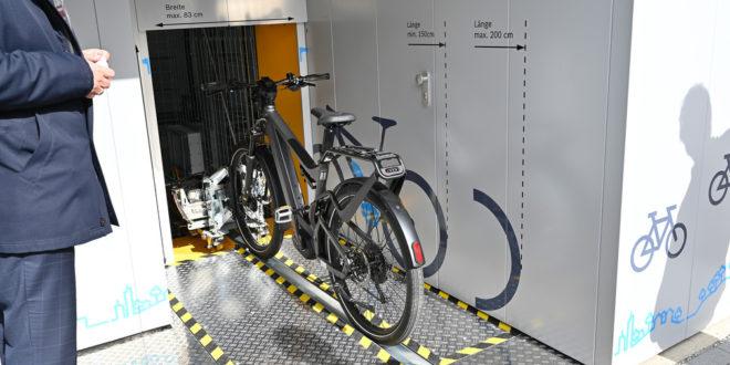 Automatische Fahrradgarage fördert neue Mobilität