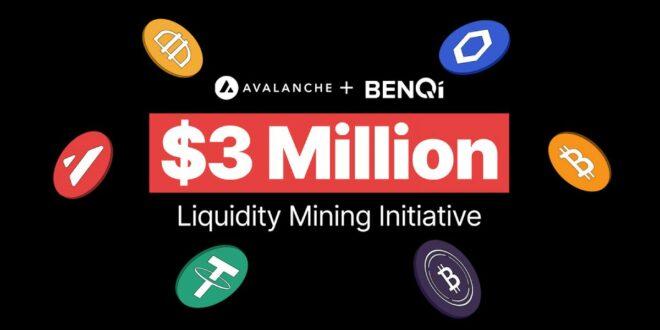 BENQI und Avalanche starten Liquiditätsmining-Initiative in Höhe von 3 Mio. USD, um das Wachstum von DeFi zu beschleunigen