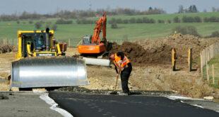 Bau der Umgehungsstraße Reichenbach am Heuberg