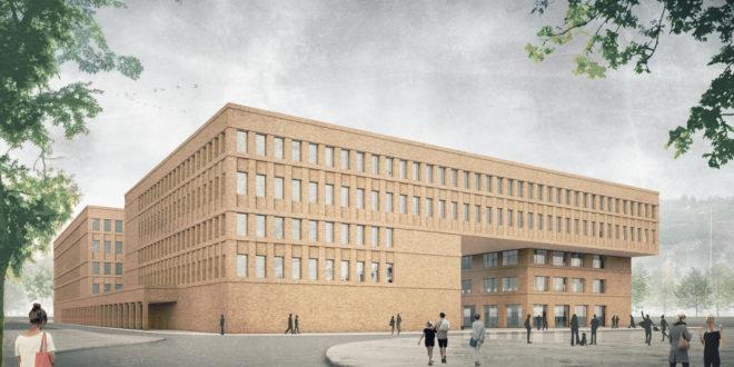 Baubeginn der neuen Fachhochschule Esslingen