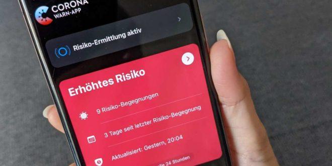 Wenn die Corona-Warn-App Rot anzeigt, könnte man sich infiziert haben. Foto: dpa/Christoph Dernbach