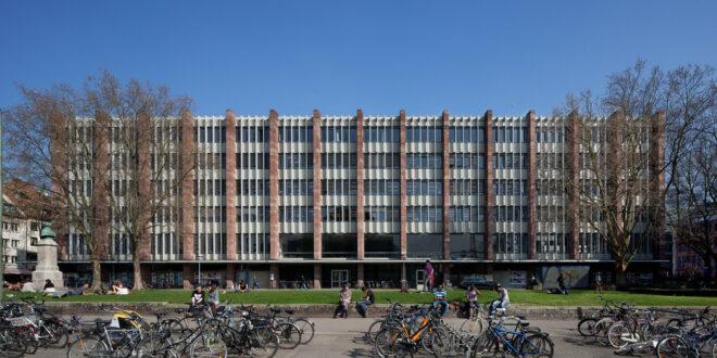 Das Hochschulgebäude II der Universität Freiburg wird weiter saniert