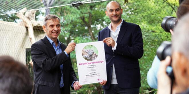 Finanzminister übernimmt Patenschaft für junge Schneeleoparden