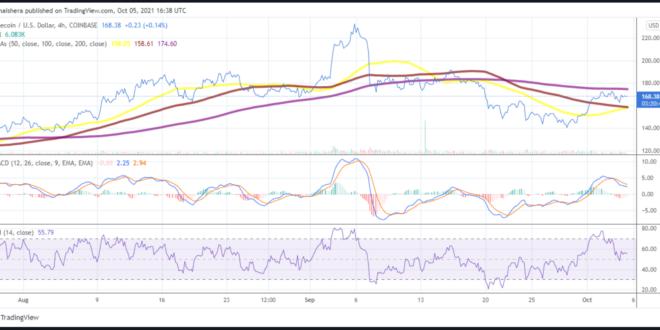 Litecoin-Preis, um das 175-Dollar-Niveau erneut zu testen