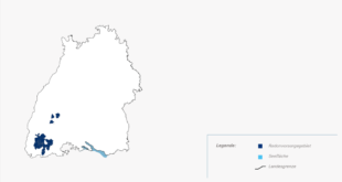 Mögliche Radonpräventionsgebiete im Schwarzwald