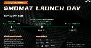 Moma Protocol Trading öffnet am Dienstag, den 6. Juli, gefolgt von IDO auf Bounce, WeStarter & IEO auf HotBit