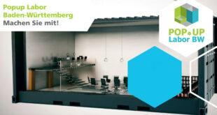 Pop-up-Labor Baden-Württemberg im Jahr 2021 an vier Standorten