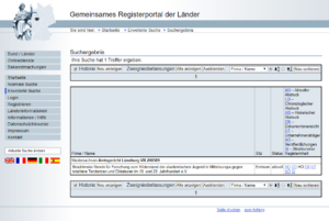 Registerauszug zum Widerstand2020