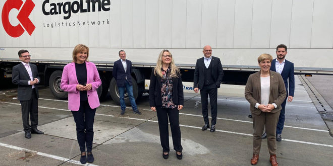 Schütz besucht Unternehmen der Logistikbranche