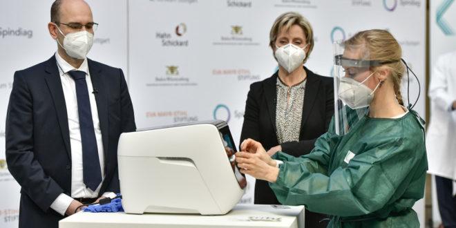 Staatlich geförderter Corona-PCR-Schnelltest vorgestellt