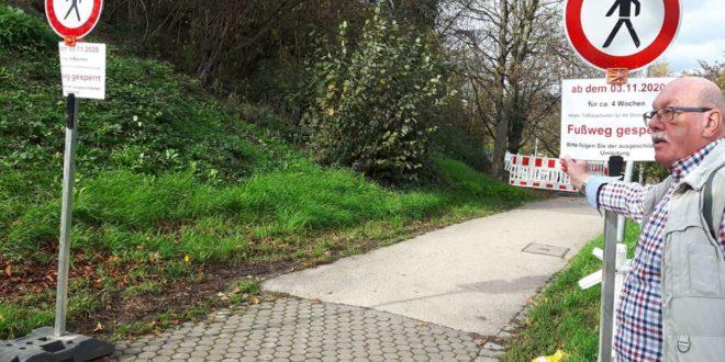 Bezirksrat Axel Alt hält die Sperrung des Fußwegs für nicht akzeptabel. Foto: Eva Funke