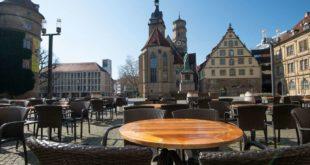 Die Stuttgarter Innenstadt wie leer gefegt. Foto: Lichtgut/Leif Piechowski
