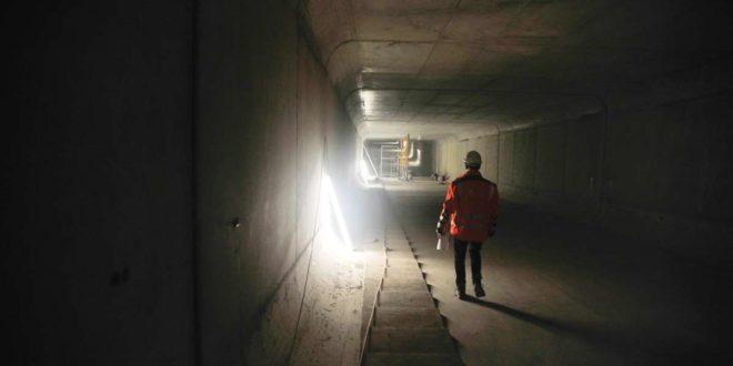 Der neue Nesenbachkanal unter dem Bahnhof ist sieben Meter breit und mehr als drei Meter hoch. Foto: Lichtgut/Max Kovalenko