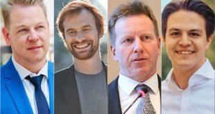 Marco Völker, Hannes Rockenbauch, Ralph Schertlen und Marian Schreier antworten im dritten Teil. Foto: Yann Lange/Ansgar/Collage Kares