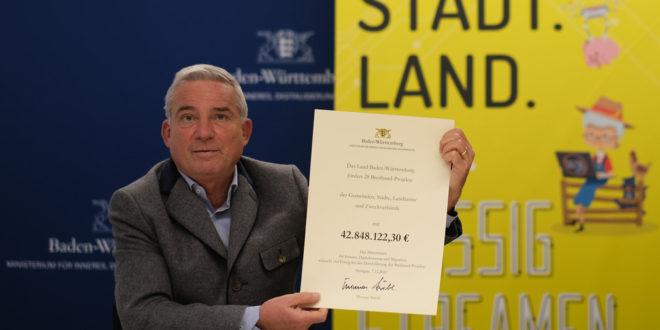Weitere 42,8 Millionen Euro für den Breitbandausbau