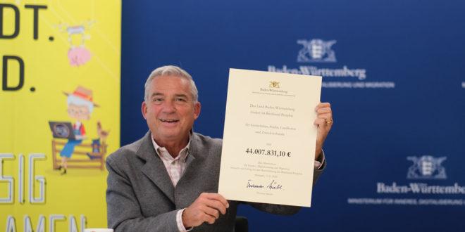 Weitere 44 Millionen Euro für den Breitbandausbau