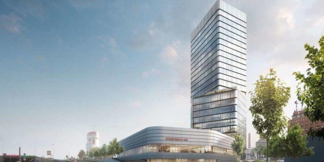 So soll der Neubau von der Heilbronner Straße aus gesehen einmal aussehen. Foto: Porsche/moka-studio