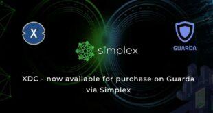 XinFin kooperiert mit Guarda Wallet und Simplex, um eine einfache Fiat Onramp für XDC bereitzustellen