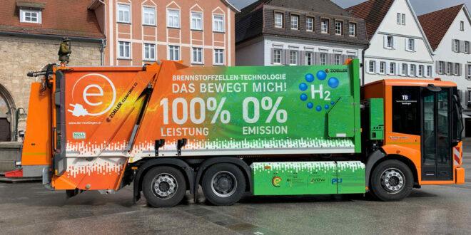 Zwei neue Müllfahrzeuge mit Brennstoffzellenantrieb in Freiburg